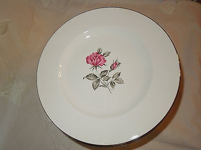 """SET of 12 EXCELLENT CONDITION Dinner Plates HOMER LAUGHLIN TIFFANY ROSE 10 1/8"""""""
