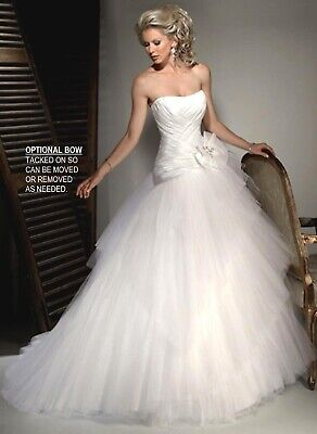 💕 Maggie Sottero Couture 💕 $1799 10 Champagne Organza Ivory Lace Wedding Dress