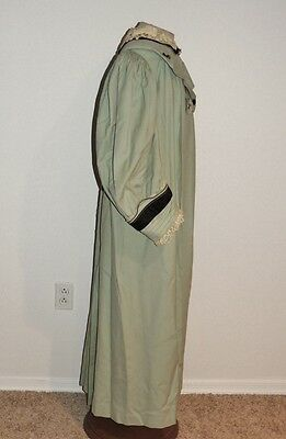 Edwardian Pale Blue Wool Coat w Lace Trim MED