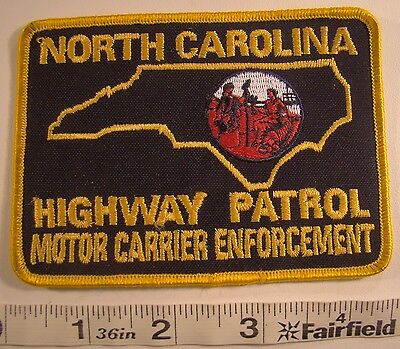 North Carolina Highway Patrol Motor Carrier Enforcement Patch Police