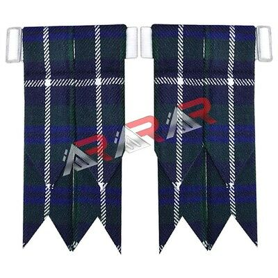 Brand New Douglas Tartan Kilt Flashes with Heavy Buckle