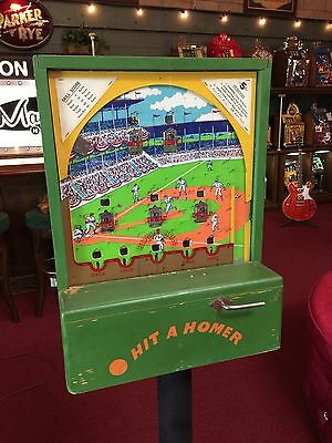 1947 HIT A HOMER Coin-Op Vending Trade Stimulator by Central MFG Co Watch Video