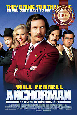 New Anchorman The Legend Of Ron Burgundy Will Ferrell Movie Print Premium Poster