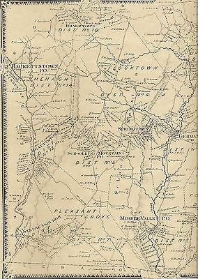 Long Valley Hackettstown Middle Valley NJ 1868 Maps with Homeowners Names Shown