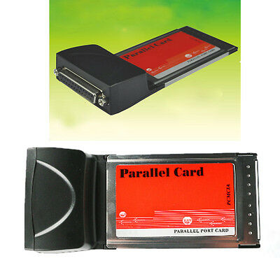 Laptop PCMCIA TO DB25 Printer LPT ParallelPort PC Card CardBus Adapter Converter