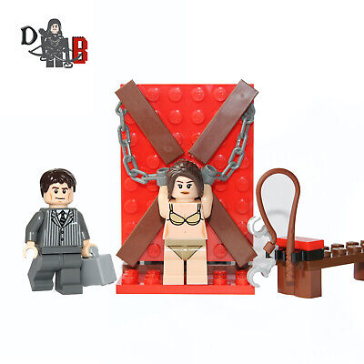 Fifty Shades of Bricks set with Minifigures. Made using LEGO parts.