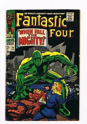 Fantastic Four # 70 When Fall the Mighty ! Kirby grade 5.0 scarce hot book !