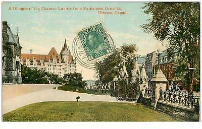 New Cpa Ottawa Canada *** A Glimpse Of The Chateau Laurier From Parliament