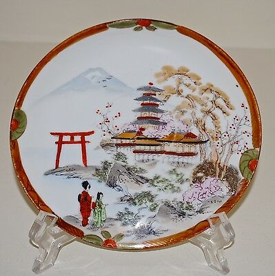 Antique Nippon Tame Nakamura Porcelain Plate Multi-Color