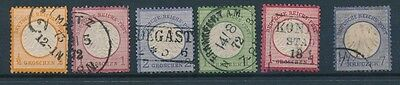 [2661] Germany 1872 lot of 6 stamps used in Mixed quality