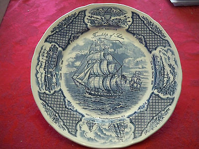 """Fair Winds by Alfred Meakin Staffordshire England Blue 10 1/4"""" Dinner Plate"""