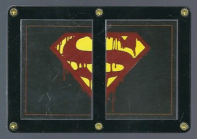 SUPERMAN 1992 DC COMICS INSERT CARDS ENCASED IN SCREW DOWN.....F1&2