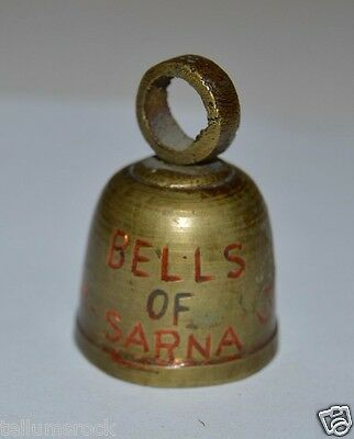 WOW RARE Vintage 1950 30 Year Anniversary Bells Of Sarna Small Brass Bell India