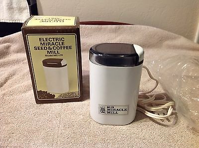 Vintage Electric Miracle Seed & Coffee Mill Model Mc-170