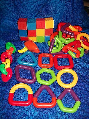 TUPPER TOYS RARE HTF HugE Lot of LINK A LOT linking Building BABY TOYS & BLOCKS