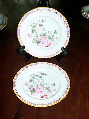 Adams Calyx Ware Metz bread and butter plates