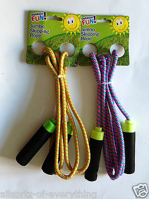 Skipping Rope Long Chunky Comfort Grip Handles Purple or Yellow