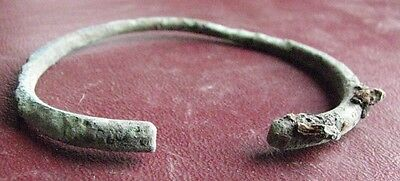 Authentic Ancient Lake Ladoga VIKING Artifact   BRONZE BRACELET  E92