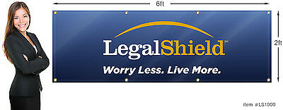 LegalShield Banner 2x6 ft (24x72 inch) Outdoor or Indoor Use.