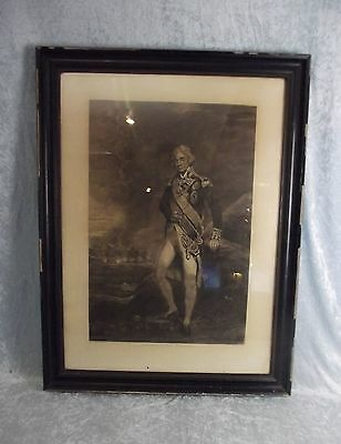 1802 Framed Stipple Engraving Of Admiral Lord Nelson Engraved By C. Turner