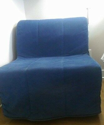 Sofa Bed - with blue cover