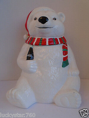 1996 Polar Bear Coca Cola  Cookie Jar