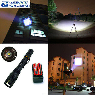 2000 Lumens UltraFire CREE XML-T6 LED Flashlight Torch +18650 Battery + Charger