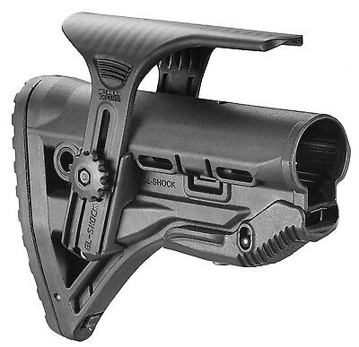 GL-Shock CP -S Fab Defense Black Color Shock Absorbing Buttstock With Cheek Rest