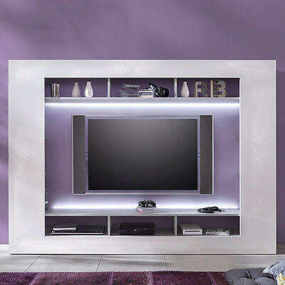 wohnwand wohnzimmer schrank tv wand marziano walnuss. Black Bedroom Furniture Sets. Home Design Ideas