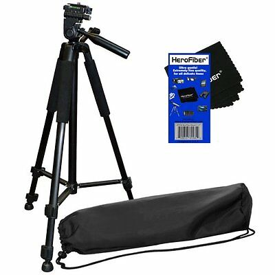 "60"" Lightweight Photo Tripod for Sony HDR-CX190, HDR-CX200, HDR-CX210 + Cloth"