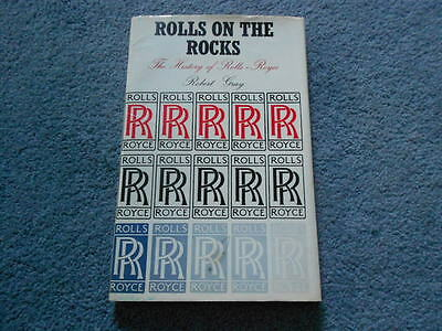VINTAGE 1971 ROLLS ON THE ROCKS THE HISTORY of ROLLS-ROYCE BOOK by GRAY HCDJ