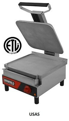 Uniworld S/S Electric Sandwich Grill 14x13 Plate ETL Approved  USAS
