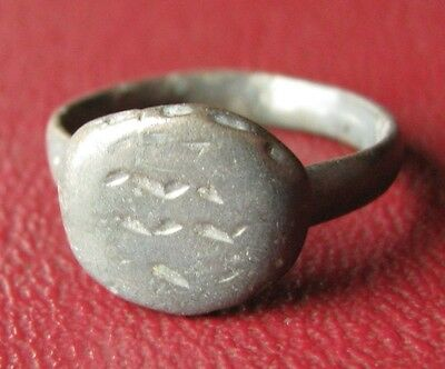 Authentic Ancient Artifact   Unidentified BRONZE RING SZ: 4 3/4 US 15.5mm 11879