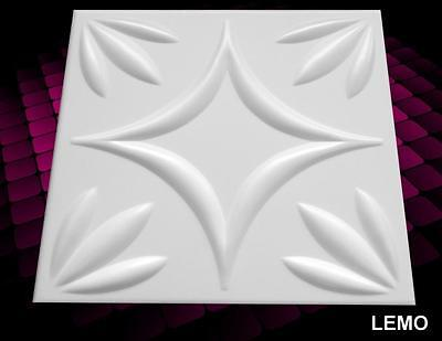 3D WALL CEILING PANELS POLYSTYRENE TILES (Pack of 100) 25 Sqm - LEMO 3D