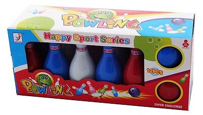Childrens Bowling Set 10 Pin Bowling Set Toys Pretend Play Childrens Gift