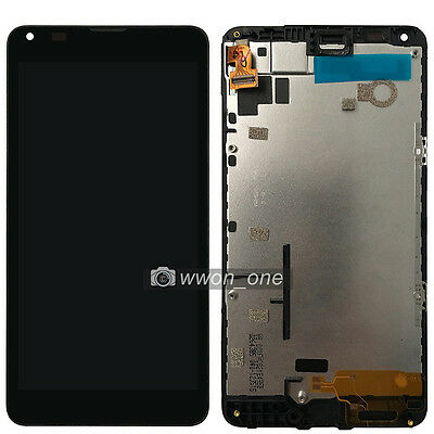 Black Microsoft Lumia 640 LCD Display Touch Screen Digitizer Assembly+Frame