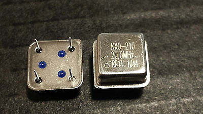 New Lot Of 2 Kxo-210 20Mhz Clock Oscillator Ideal For Project Work