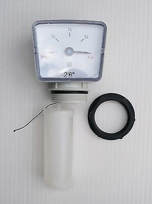 """IBC CAGE TANK FLOAT GAUGE 2 ft. 6"""".  Oil or Water. C/w 1.1/2 Back-Nut"""