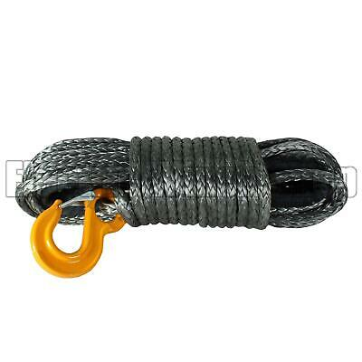 New Warrior Black Edition Synthetic Winch Rope 12mm x 30m with 12000kg MBL
