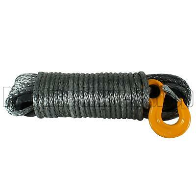 New Warrior Black Edition Synthetic Winch Rope 11mm x 30m with 10800kg MBL