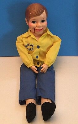 "Willie Talk Ventriloquist Dummy Doll Horsman Vintage Puppet 23"" Yellow Shirt"