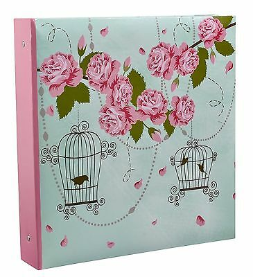 Vintage Rose Large 6x4 Photo Album Holds 500 Photos Holiday/Wedding - BL500