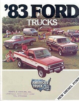 1983 Ford Truck Brochure my4458