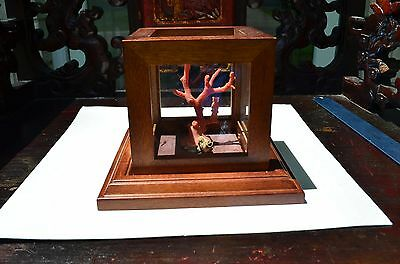 Miniature Old Chinese Coral Branch From 1960 Collection Hand-carved little girl