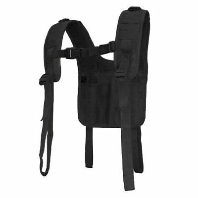 Condor - Military H-Harness with Suspender Supports Battle Belt (Black) #215