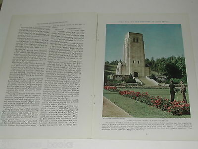 1934 magazine article, WWI Memorials in Europe, by General Pershing Color photos