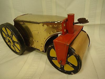 Marx Tin Litho Wind-Up Steam Roller Prototype? Unmarked Mystery Marx Toy
