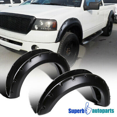 04-08 Ford F-150 Styleside 4PC Smooth Paintable Pocket Rivet Style Fender Flares