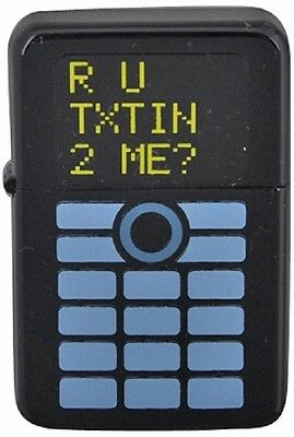 *NEW* Windproof Lighter ' R U YOU TEXTING ME' Gift Boxed