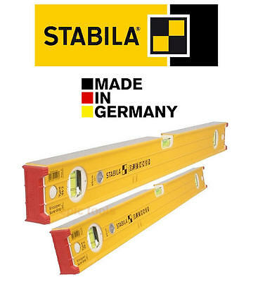 "STABILA 96-2 Heavy Duty 3 Vials 120cm/4'/48"" & 60cm/24""/2ft Beam Spirit Level"